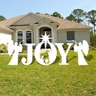 Victorystore Yard Sign Outdoor Lawn Decorations Joy Nativity Scene Christmas