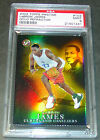 2003 LEBRON JAMES #103 TOPPS GOLD ROOKIE REFRACTOR 6 99 PSA 9 POP 5 JERSEY #6