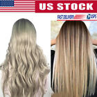 Sexy Womens Blonde Wig Long Brown Gold Straight Curly Black Synthetic Hair Wigs