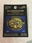 NASA ISS Pin 50 Expeditions Flown Metal International Space Station