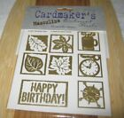 Cardmakers Masculine Embossed Metallic Images New Package