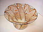 M Rhys Williams Art Glass Bowl Pulled Feather Vase dtd 1977