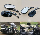 Black deep Edge Cut Rearview Mirror Rear View Side Mirrors For Harley Touring US