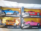 Fast and Furious Set of 4 Die cast cars 1 24 scale