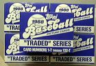 1988 Topps Traded 5 Set Lot Rookies Abbott Alomar Grace Martinez And More!!!