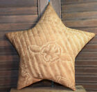 Primitive Quilt Star Quilted Flower Tan Cupboard Tuck Decor