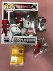 Funko POP Marvle Deadpool on Unicorn Taco Truck Tag Collector Corps Exclusive