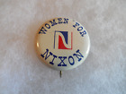 Presidential Richard Nixon Pin Back Button Campaign Pinback Women For President