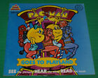 Pac-Man Goes to Playland Paperback Book and Record See Hear Read Kid Stuff Oop