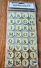 Craft Scrapbooking Supplies Sticko Inspirables Leather Alphabet Stickers
