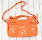 LONDONCOOL Temperley 900 Electric Coral Leather Studded Bag w Removable Strap