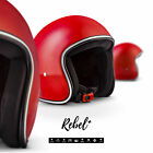 REBEL R2 Red JET HALF HELMET SCOOTER MOTORCYCLE MOPED OPEN FACE XS XL