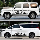 1 Pair Black Mountain Styling Auto Both Body Sides Vinyl Graphic Decal Stickers