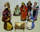 NINE PIECES VINTAGE MADE IN GERMANY PAPER MACHE NATIVITY FIGURES NICE