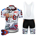 Funny Cycling Clothing Sets Retro Road Clothing MTB Short Sleeve Racing DIY
