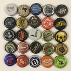 Beer Bottle Caps Lot of 25 All Different Brewery Craft Micro Ran