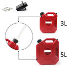 3L 5L Jerry Cans Gas Diesel Fuel Tank For Car Motorcycle w/Lock+Mounting