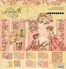 Graphic45 PRINCESS COLLECTION PACK scrapbooking 16 PAPERS + STICKER SHEET