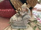 Antique Victorian Figurine Lady With Millinery Flowers Circa 1880-1900 #B