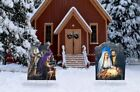 Christmas Nativity  Three Wise Men Set Outdoor Plastic Yard Standee Party Decor