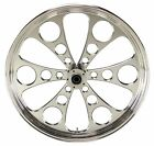 Polished Kool Kat CNC 21 x 35 Dual Disc Front Wheel for Harley