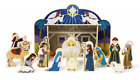 Classic Wooden Christmas Nativity Set With 4 Piece Stable and 11 Figures