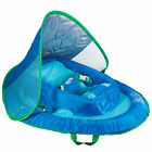 SwimWays Inflatable Infant Baby Spring Swimming Pool Float with Canopy Blue