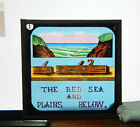 Victorian humour  Glass magic lantern slide The Red Sea and the plains below