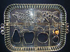 Serving Dish Serving Tray Indiana Glass Clear Divided Fruit Design #20
