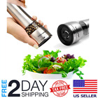 Premium Stainless Steel Salt and Pepper Grinder Adjustable Mill Spices Shakers