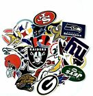 NFL LOGO DIE CUT VINYL STICKER SELECT FROM ALL TEAMS OR COMPLETE SET