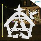 EasyGO Set Outdoor Christmas Yard Decorations Nativity Scene 4 Foot Tall White