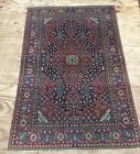 Antique Fine Persian Isfahan Handwoven Rug With Willow Design
