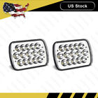 Pair LED 6 X 7 LED Headlight Replacement Lamp DRL for Jeep Cherokee XJ Trucks