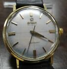 VINTAGE OMEGA SEAMASTER 34MM WHITE FACE WATCH STAINLESS AND GOLD