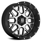 20 Inch Black Silver Wheels Rims XD Series XD820 Grenade 20x12 Jeep JK LIFTED 4