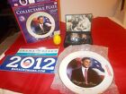 Barack Obama Plate.Two Watches.Easter Egg.Bumber Stickers
