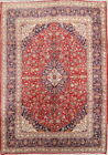 Vintage Traditional Floral Kaashan Persian Hand Knotted Wool Area Rug 10x14