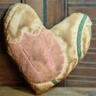 Primitive Small Quilt Heart Valentine Bowl Filler Cupboard Tuck Pink Tulip