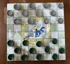 OOAK SEABEES SEABEE Hand Painted Wooden Checker Board W/Checkers Primitive NEW