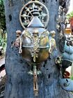 Antique Large Lavabo Brass with Cast Cherubs Putti Angels Wall Water Fountain