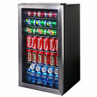 Small Beverage Cooler 126 Can Fridge Home Bar Wine Beer Soda Drink Chiller Unit