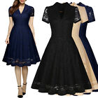 Women's Vintage Lace Collared Dress, for Business, Causal, and More!