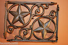 (2) Antique-look Lone Star Shelf Decor Brackets Rustic Cast Iron 9 inches, B-19
