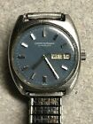 1978 Blue Faced Girard Perregaux Mens Watch Gyromatic Date Automatic Day Date