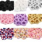 50pcs Artificial Mini Rose Silk Fake Flower Head for Wedding Party Home Decor US