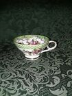 Metasco tea cup flowers mint green and gold