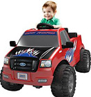 Power Wheels Ride12v Electric W Remote Control Battery Toy Lights Powered Truck