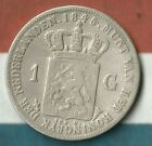 1845 1 Gulden Netherlands 945 Silver Really Nice Condition Big Silver Coin