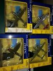 Lot Of 4 Motor Max Classic Props Die Cast WW2 Airplanes